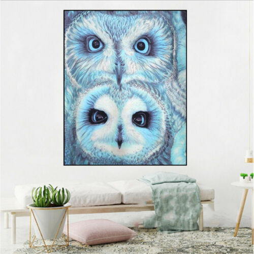 FULL DRILL DIY 5D DIAMOND EMBROIDERY PAINTING BIG EYES OWL CROSS STITCH OPULENT
