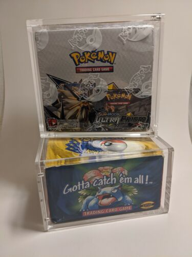 Pokemon Booster Box Magnetic Acrylic Case Framing / Storage Display (Case Only)