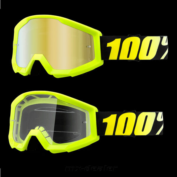 100 % Prozent Strata Neonyellow Brille Motocross Enduro Downhill MTB Cross BMX