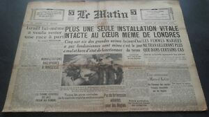 JOURNAL-LE-MATIN-MARDI-15-OCTOBRE-1940-N-20-656-BE