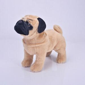 Lifelike Plush Pug Dog Simulate Stuffed Animal Doll Toy Statues Kids Gift Cute