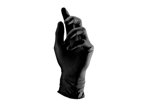 100 Handschuhe LATEX M ungepudert Einweghandschuhe schwarz Tattoo 4220M-10