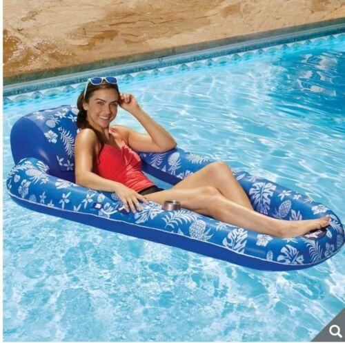 "Aqua Luxury 5ft 8/"" Inflatable Luxury Pool Lounger Float 176.8cm"