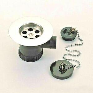 Bristan-Economy-Kitchen-Sink-Waste-Plug-and-Chain-Chrome-WSNK1C