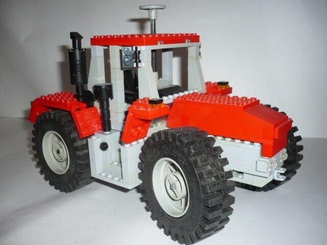 Bausatz Traktor ähnlich SchlüterEuroTrac 1700 M1 18 aus Lego® Bausteinen