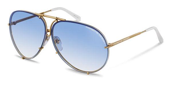 d6c3d950c282 Buy Porsche Design P8478 W Sunglasses Gold Frame Blue Gradient and Brown  Lens 66mm online