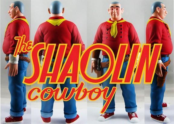 SHAOLIN COWBOY rojo COMIC BOOK EDITION DESIGNER VINYL TOY Figura GEOF DARROW