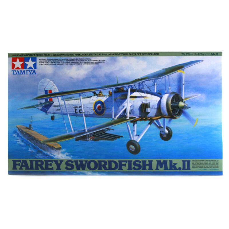 Tamiya Fairey Swordfish Mk.II modellllerlerl Set (skala 1 48) 61099 NY