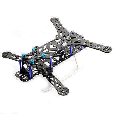 NEW 300mm PURE Carbon Fiber FPV Mini H Quadcopter Frame KIT BULE