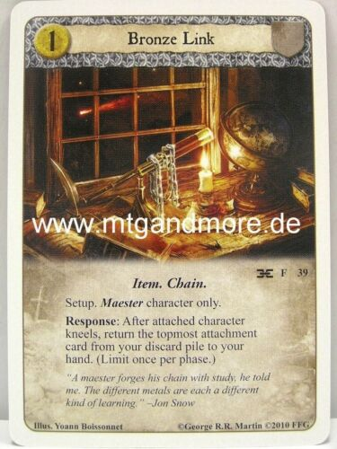 Forging the Chain 1x Bronze Link  #039 A Game of Thrones LCG