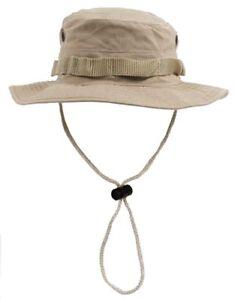 Talla-M-Chambergo-sombrero-boonie-pamela-panama-Kaki-RipStop-militar-senderismo