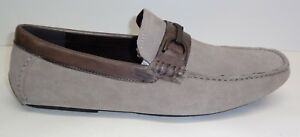 Kenneth-Cole-Reaction-Size-11-5-M-DESIGN-20166-Gray-Suede-Loafers-New-Mens-Shoes