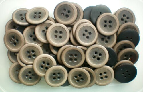 Large 30mm 34mm Light Brown Suede Brush Effect Coat 4 Hole Buttons Q226A Q226B x