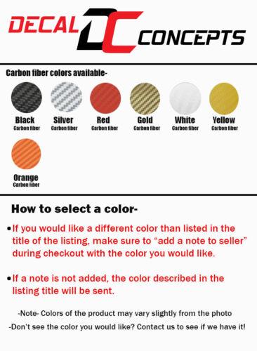 07-20  GMC Sierra Yukon Carbon Fiber Front//Rear Emblem Overlay decal WRAP 2 kits
