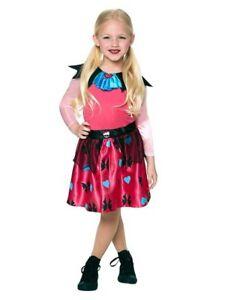 Girls Draculaura Monster High Fancy Dress Halloween Costume Vampire