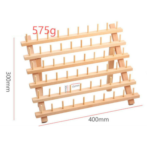 60 Spools Wooden Thread Rack// Thread Holder Quilting Embroidery Tool