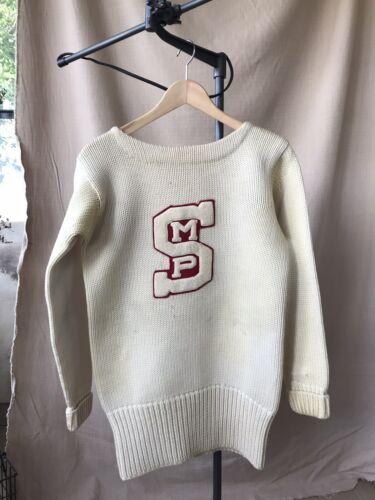 Vintage 1930s Wool Letterman Sweater