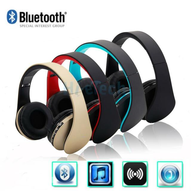 Foldable FM Bluetooth Wireless Headset Stereo Headphone Mic For iPhone Samsung