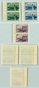 LA-RUSSIE-URSS-1948-SC-1307-1309-Z-1257-1259-neuf-sans-charniere-paires-e2897