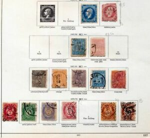 NORWAY-1850s-1920s-Used-Collection-on-Pages-Apprx-60-Items-ZZ79