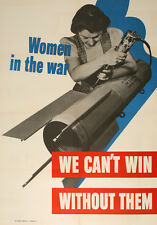 Original Vintage WWII Poster Women in the War Rosie the Riveter 1942 USA