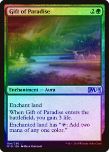 M19 NM-M Green Uncommon MTG CARD ABUGames Gift of Paradise FOIL Core Set 2019
