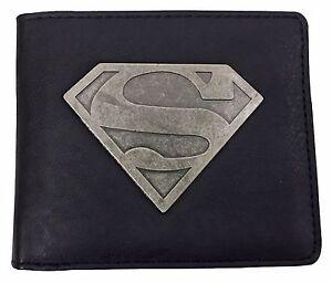 DC-Comics-Mens-Black-Superhero-Faux-PU-Leather-Superman-Logo-Card-Purse-Wallet
