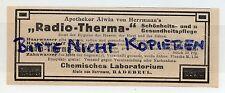 RADEBEUL, Werbung 1913, Labor Alwin von Herrmann Radio-Therma Haar-Zahn-Wasser