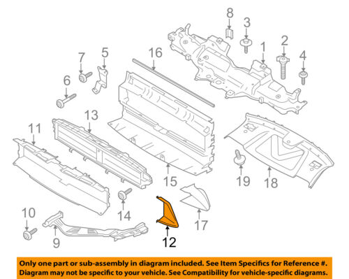 PORSCHE OEM 15-16 Macan Radiator Core Support-Side Duct Left 95B1216731E0