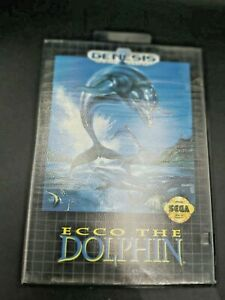 Ecco-the-Dolphin-Sega-Genesis-1992-Complete-amp-Tested-Free-Shipping