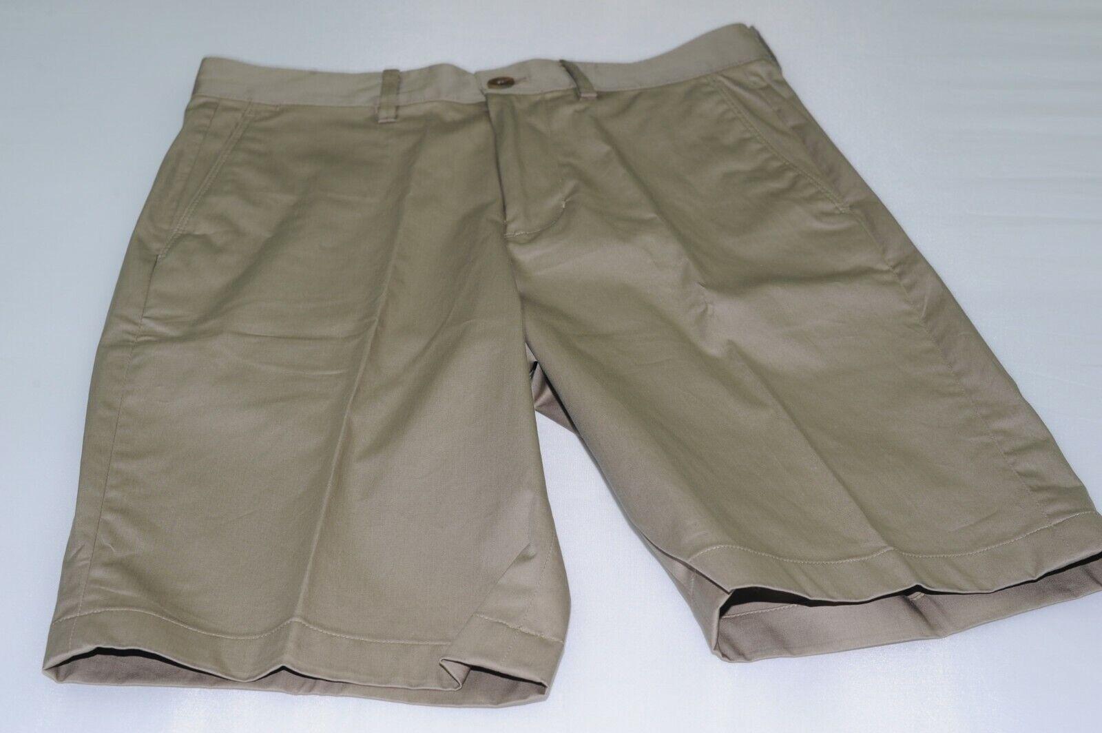 NWOT Vince Men's Flat Front Cotton Blend Stretch Casual Shorts Size 28X10