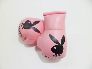 Playboy light Pink mini boxing glove keyring-.Great gift Get the best!