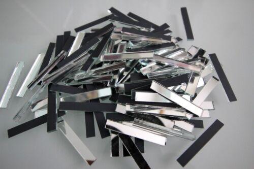 Mosaic Silver Mirror Glass strips Art /& Craft 5 x 0.5 cm 100 strips 2 mm.