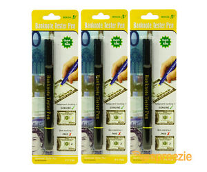 Image Is Loading 3 Pack Counterfeit Money Detector Pen Marker Fake