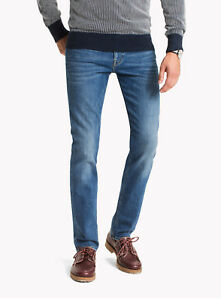 db4572a2 Image is loading Tommy-Hilfiger-Denton-Straight-Fit-Jeans-Atlanta-Blue