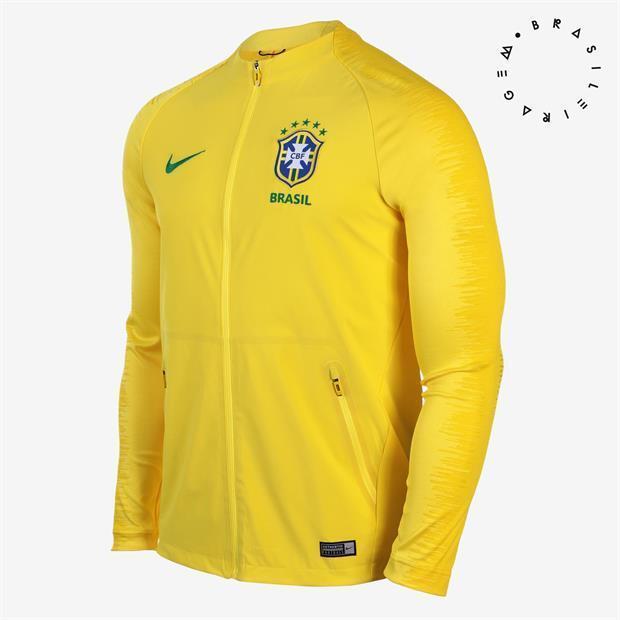 Nike Brasil Himno Chaqueta de entrenamiento 2018 19 para hombres jaqueta Brasil CBF huelga Futbol