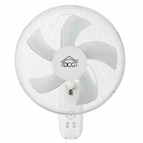 Ventilatore Parete Muro 40W 5 Pale 40cm 3 Velocita Regolabile Colore Bianco