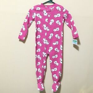 5077e4133 NWT Child of Mine by Carter's Baby Toddler Girl Cat Footed Sleeper ...