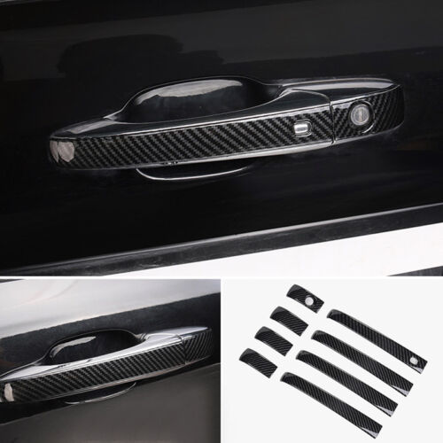 for Jeep Grand Cherokee 2014-2018 Carbon Black Door Handle Cover Decoration Trim