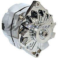 Chrome Alternator For Chevy Gmc C K R V Truck 1500 2500 3500 3 Wire High 110amp