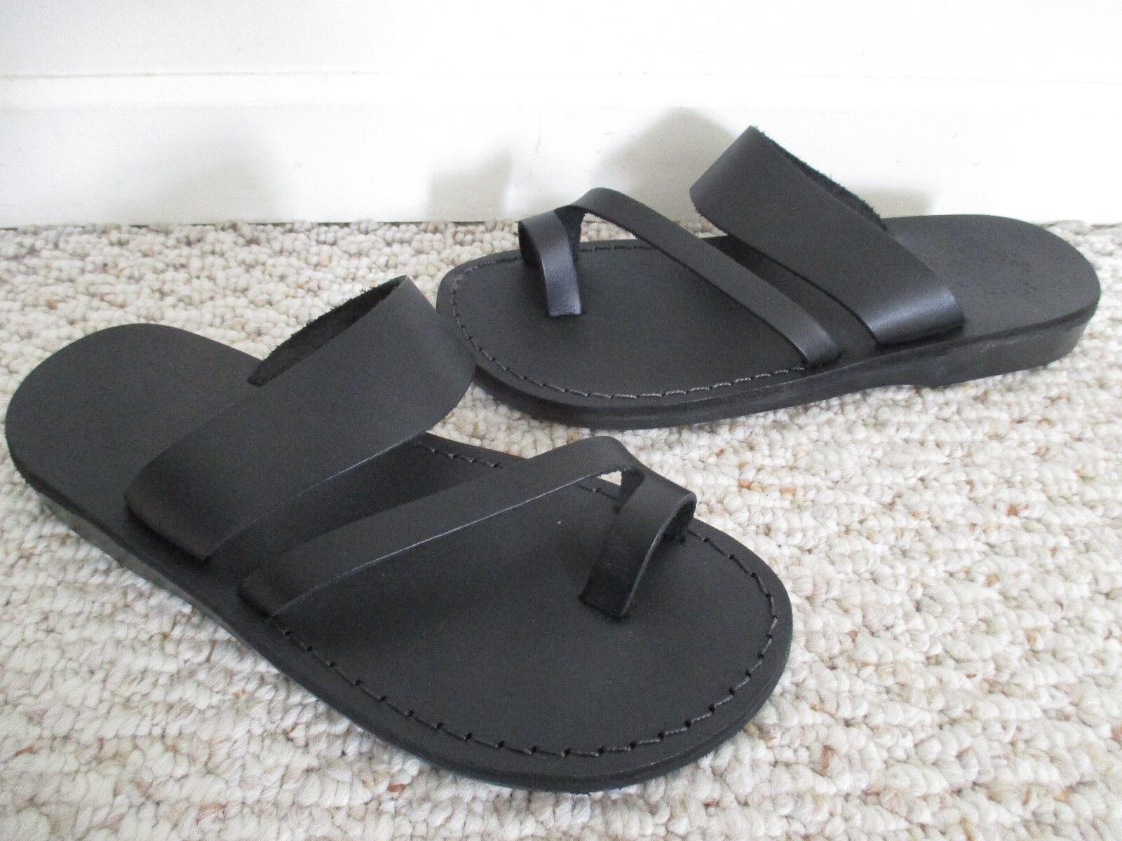 Jerusalem Jerusalem Jerusalem Sandals Zohar nero Leather Slip-On Dimensione 40 NEW 8c6c04