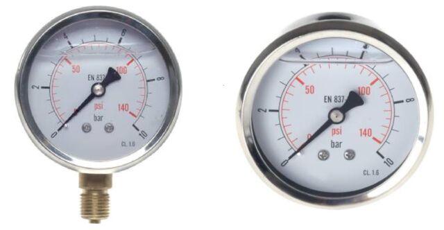 63 mm Manometer für Kränzle Hochdruckreiniger und Andere  Edelstahl