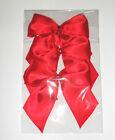 3 X RED SATIN BOW Wedding Xmas Christmas Present Gift Wrap Decoration Wreath
