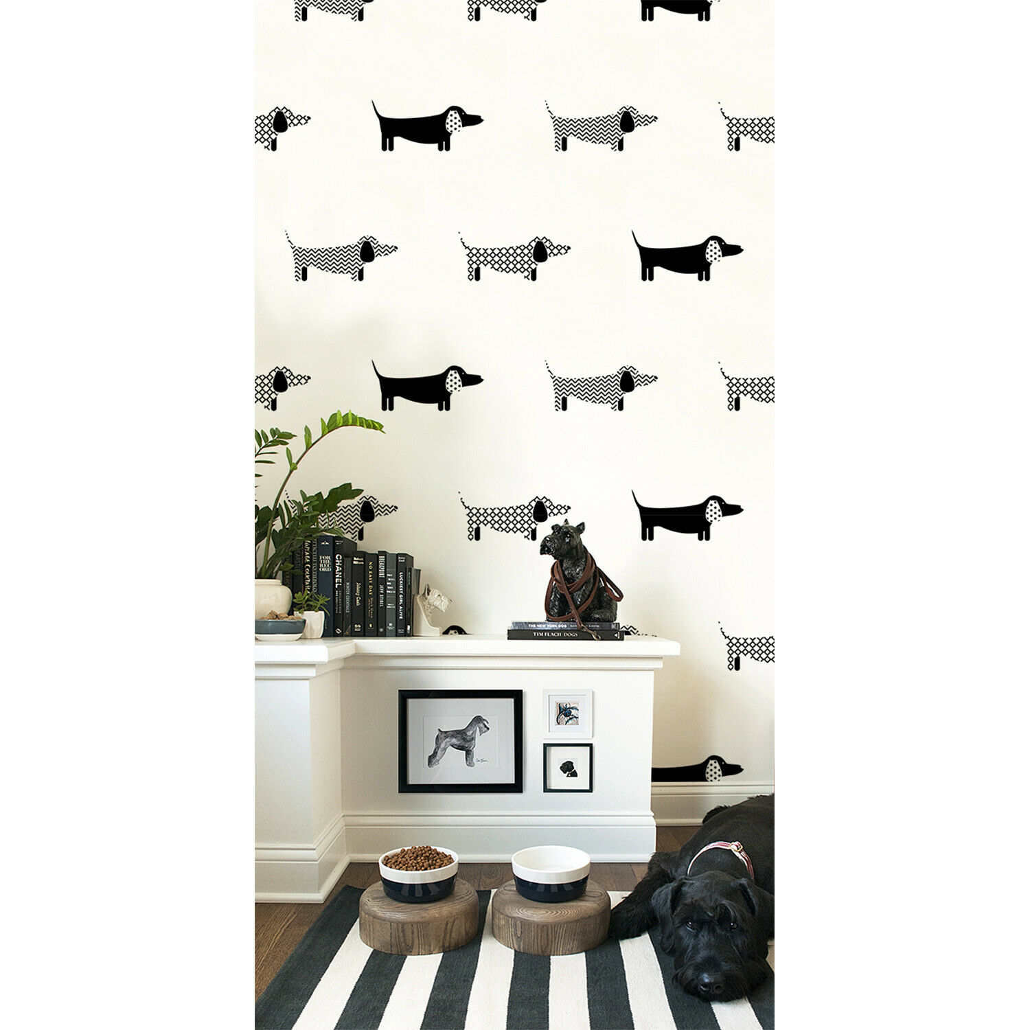 Dachshunds wall mural Animals Home decor Dogs Non-Woven wallpaper traditional