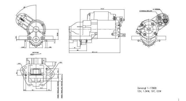 Starter Motor TYC 1-17868 fits 03-05 Acura MDX 3.5L-V6