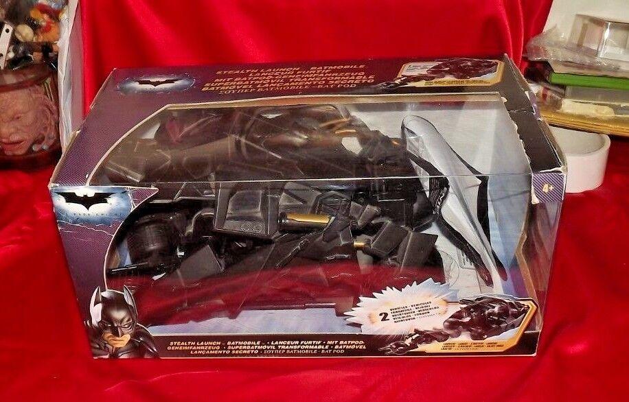 RARE COLLECTABLE DC COMICS-BATMAN THE DARK KNIGHT Stealth Launch Batmobile