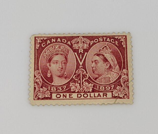 Stamp Pickers Canada 1897 Victoria Diamond Jubilee $1 Scott #61 NH $3600 Filler