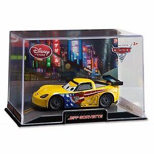 Disney Store Cars 2 Die Cast Collector Case Jeff Gorvette 1 43 Scale