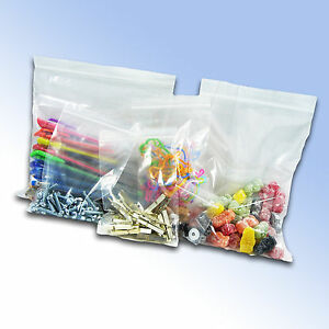 100 Resealable Plastic Grip Seal Bags 8 x 11 GL12