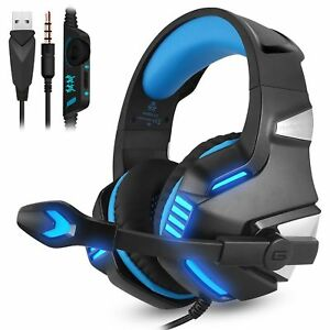 3.5mm Gaming Headset MIC LED Headphones V3B for PC Mac Laptop PS4 Slim Xbox One 709112181019